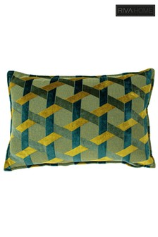 Delano Geo Jacquard Cushion by Riva Home