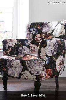 Floretta Blush Dalston Chair by Clarke & Clarke