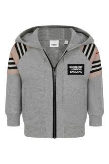 Baby Boys Grey Melange Cotton Sweater