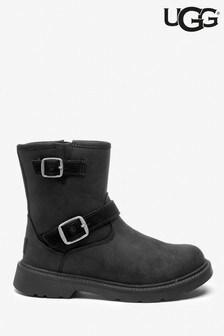 UGG® Black Kinzey Kids Biker Boots