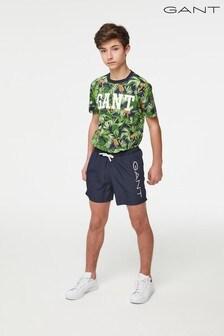GANT Teen Boys Logo Lightweight Swim Shorts