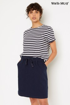 White Stuff Blue Sally Jersey Mini Skirt
