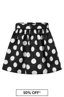 Girls Black Polka Dot Skirt