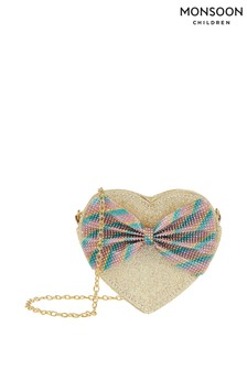 Monsoon Natural Roxy Rainbow Heart Bag