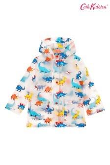 Cath Kidston® Kids Dinosaur Jungle Spaced Clear Rain Mac