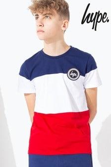 Hype. Tri Colourblock Crew T-Shirt