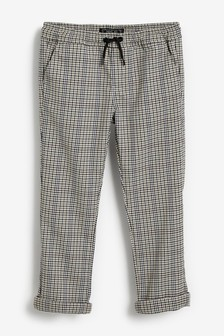 Pull-On Check Trousers (3-16yrs)