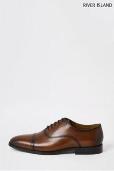 River Island Brown Smart Toecap Oxford Shoes