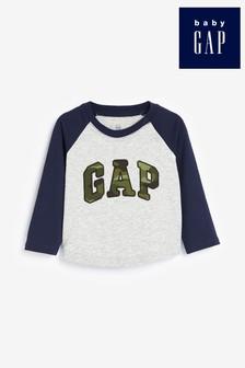 Gap Raglan Camo Logo T-Shirt