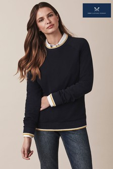 Crew Clothing Blue Lurex Rib Sweatshirt