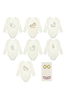 Baby Ivory Week Bodysuits Set