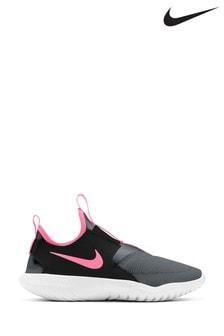 Nike Run Grey/Pink Flex Runner Youth Trainers