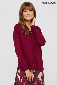 Monsoon Red Blaise Jumper