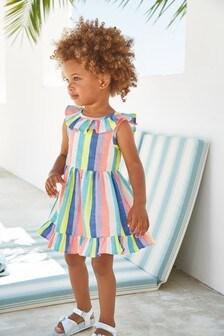 Bright Rainbow Stripe Dress (3mths-7yrs)
