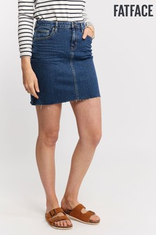 FatFace Blue Hannah Denim Skirt