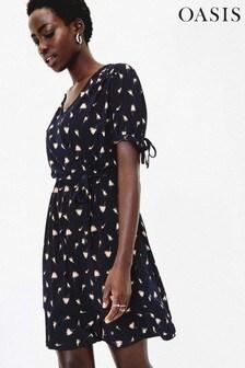 Oasis Blue Reeves Rosebud Dress