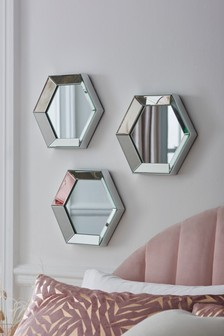 Set of 3 Hexagon Mirrors