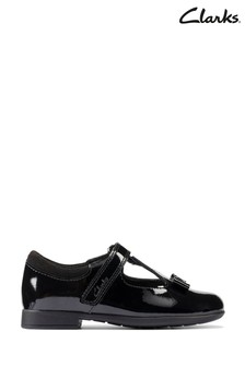 Clarks Black Patent Scala Hope Toddlers Shoes