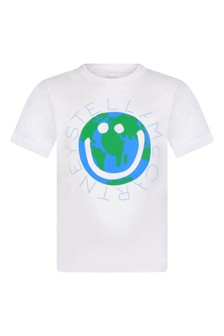 Kids Ivory World Logo T-Shirt