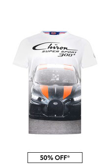 Bugatti Boys White Cotton T-Shirt