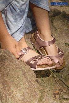 Birkenstock® Rose Gold Metallic Sandals