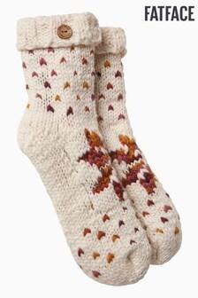 FatFace Natural Fairisle Pattern Bed Socks