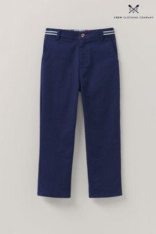 Crew Clothing Company Blue Slim Chino Trousers