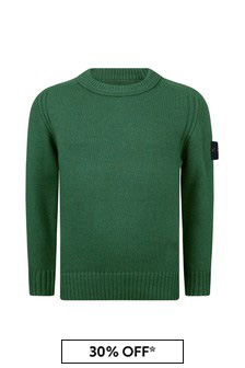 Boys Green Knitted Jumper