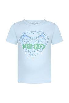 Kenzo Kids Baby Boys Blue Cotton T-Shirt