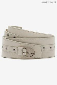 Mint Velvet Stone Stud Leather Waist Belt