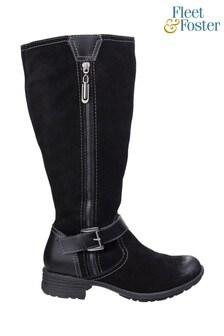 Fleet & Foster Black Tokyo Long Boots