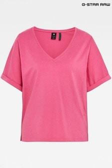 G-Star Pink Joosa V-Neck T-Shirt