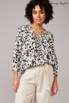 Phase Eight Cream Larissa Leaf Blouse