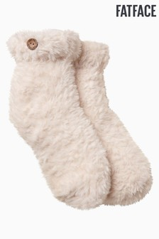 FatFace Natural Fluffy Bed Socks