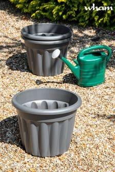 Set of 3 Vista 40cm Round Garden Planters by Wham