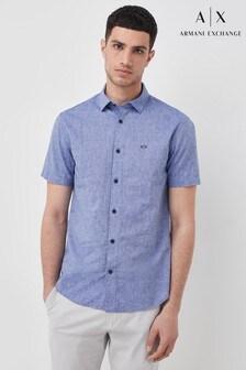 Armani Exchange Short Sleeve Chambrey Shirt