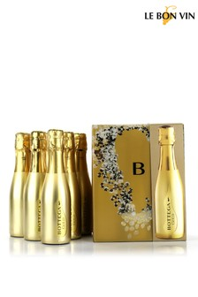 Bottega Mini Gold Prosecco 6 Bottle Gift Set by Le Bon Vin