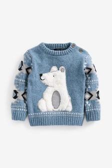 Cosy Polar Bear Jumper (3mths-7yrs)