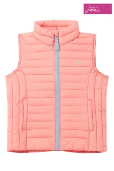 Joules Pink Croft Padded Gilet