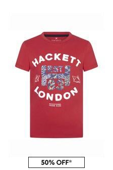 Hackett London Kids Boys Navy Cotton T-Shirt
