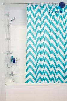 Croydex Chevron Shower Curtain