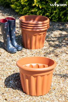 Set of 5 Vista 40cm Round Garden Planters by Wham