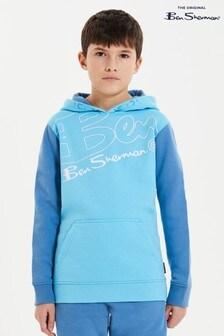 Ben Sherman® Blue Ben Outline Hoodie