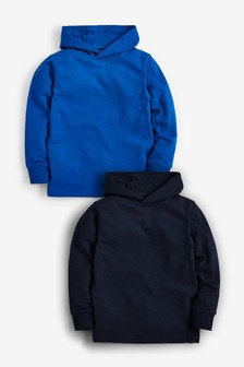 2 Pack Long Sleeve Hooded T-Shirts (3-16yrs)