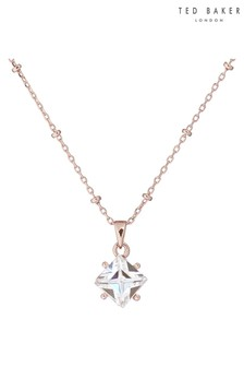 Ted Baker Gold Caesha Crystal Candy Square Stone Pendant