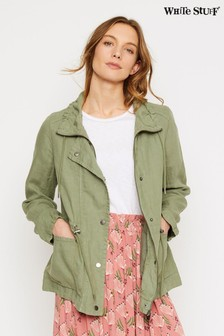 White Stuff Green Layla Linen Jacket