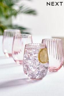 Sienna Set of 4 Short Tumbler Glasses