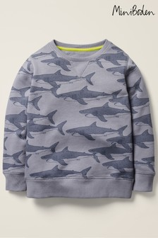 Boden Grey Under-The-Sea Sweatshirt
