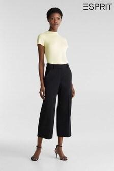 Esprit Black Wide Leg Knitted Pants