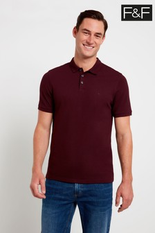 F&F Burgundy Epp Polo Top